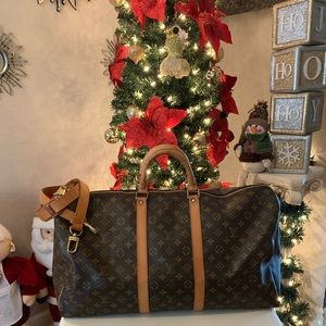 Louis Vuitton Keepall Bandouliere Duffle 55
